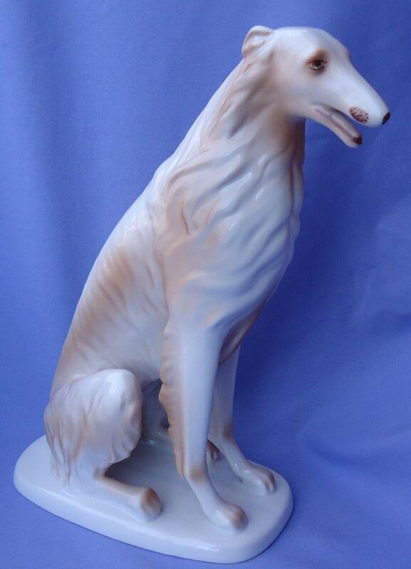 """12"""" BORZOI HOLLOHAZA HUNGARY DOG"""