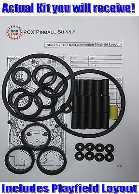 1993 Williams Star Trek: The Next Generation Pinball Machine Rubber Ring Kit