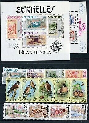 Seychelles QEII 1980 some Commemorative issues MNH London Games Birds
