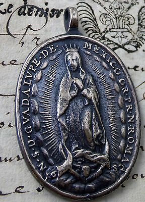 Antique 1682 Catholic Patrones of the Americas O. L. of Guadalupe Shrine Medal