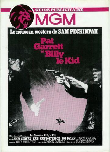 SAM PECKINPAH JAMES COBURN DYLAN   pressbook MGM PAT GARRETT AND  BILLY THE KID