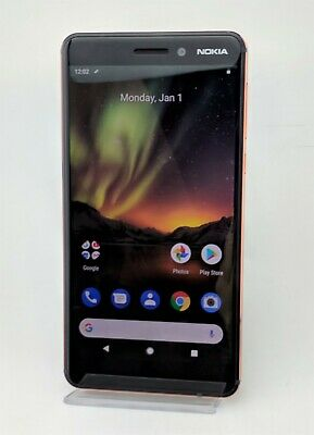 Nokia 6.1 TA-1045 32GB Black Unlocked Android Smartphone Good Shape
