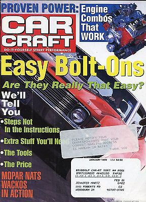 Car Craft Magazine January 1999 Engine Combos That Work / Easy Bolt Ons (Easy January Crafts)