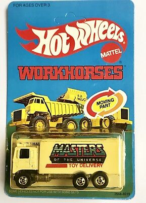 Masters Of The Universe Hiway Hauler Workhorses Hot Wheels Unpunched Card