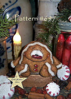 Patti's Ratties Primitive Christmas Gingerbread Doll Paper Pattern #697