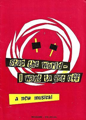 "Anthony Newley ""STOP THE WORLD"" Anna Quayle / Leslie Bricusse '62 London Program"