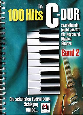 Keyboard Klavier Noten : 100 Hits in C-Dur 2 leichte Mittelstufe SCHLAGER OLDIES