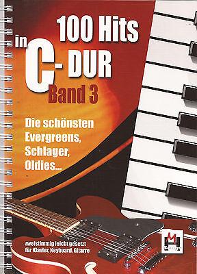 Keyboard  Gitarre Noten - 100 HITS IN C-DUR - Band 3 -