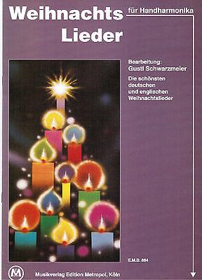 diat. diatonische Handharmonika Noten : Weihnachtslieder - lei Mittelst. B-WARE