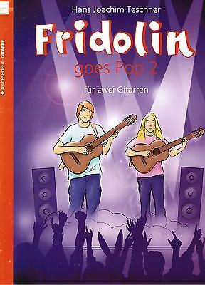 Gitarre Noten : Fridolin goes Pop Band 2 (f. 2 Gitarren) mittelschwer - B-WARE