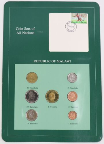 Republic of Malawi - Coin Sets of All Nations Franklin Mint Postal Panel