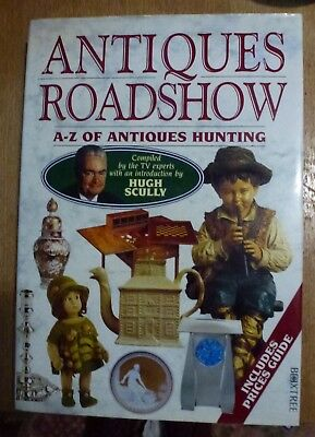 VINTAGE BOOK A- Z OF ANTIQUES HUNTING ANTIQUES ROADSHOW BBC TV SHOW HUGH SCULLY
