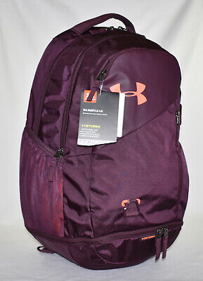 New Under Armour Hustle 4.0 Laptop Backpack -- Purple Maroon