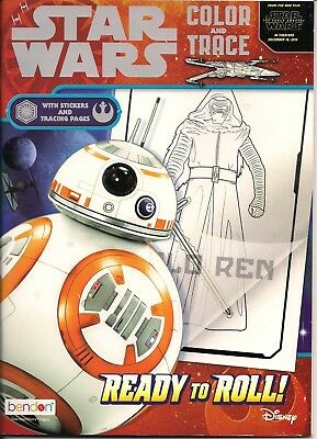 Star Wars Ready To Roll Color and Trace Activity Book with Stickers