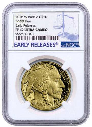 2018-W 1 oz Gold Buffalo Proof $50 Coin NGC PF69 UC ER SKU53728