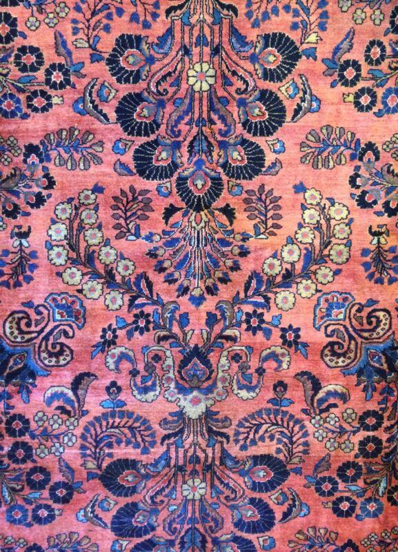 Fantastic Floral - 1920s Antique Oriental Rug - Handmade Carpet - 10 X 14.8 Ft