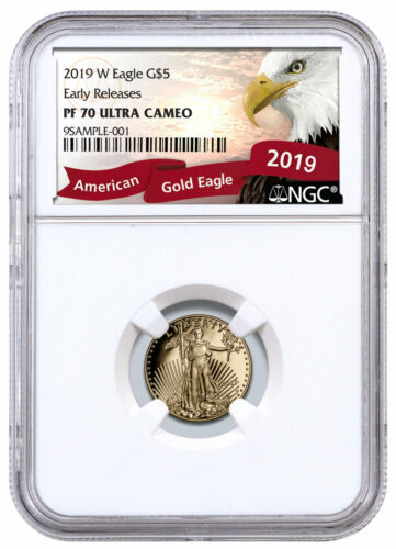 2019 W 1/10 oz Gold American Eagle Proof $5 NGC PF70 UC ER SKU56154