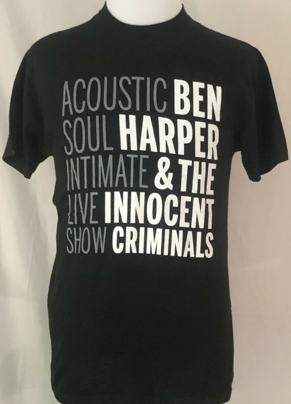 Ben Harper & The Innocent Criminals 2007 Lifeline Tour Acoustic Shirt Size M