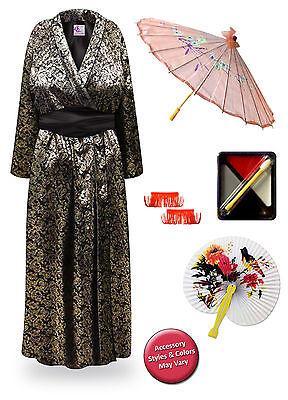Geisha Metallic Paisley Plus Size Halloween Costume Robe 1x 2x 3x 4x 5x 6x 8x