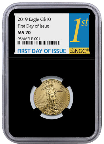 2019 1/4 oz Gold American Eagle $10 NGC MS70 FDI Black Core SKU55942