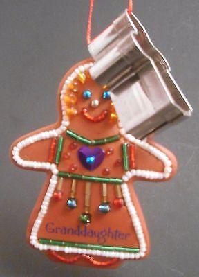 (Hallmark Keepsake Ornament Granddaughter 2003 EUC Cookie Cutter Gingerbread Girl)