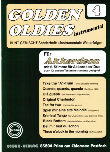 Akkordeon Noten : Golden Oldies 4  mittelschwer  m. 2. Stimme (ad. lib.)