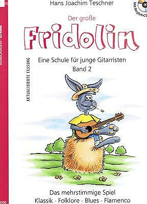 Gitarre Noten Schule : Der große FRIDOLIN mit CD (Fridolin Band 2 Gitarrenschule