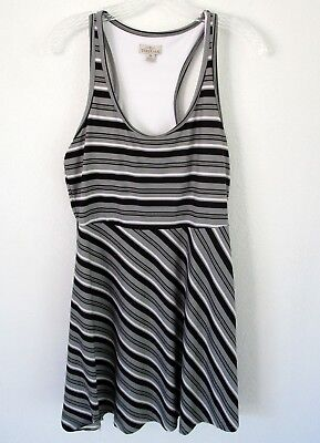 c62f439b6c432 Tehama Striped Sport Athletic Dress With Built In Bra Size Medium racer back