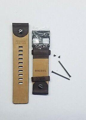 DIESEL 24 MM 100% ORIGINAL BROWN LEATHER STRAP WITH PINS DZ-7258 WATCH MODEL NEW