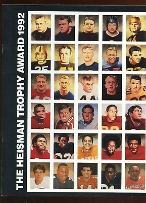 - 1992 Heisman Trophy DAC Program Autographed Vic Janowicz & Gino Torretta LOA