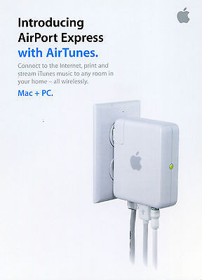 -  Vintage Apple •brochure• Airport Express with AirTunes Mac + PC collectable AU