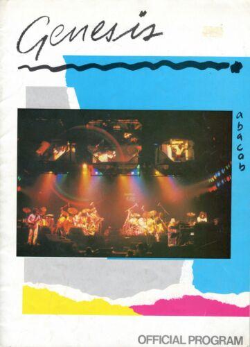 GENESIS 1981 ABACAB US TOUR CONCERT PROGRAM BOOK BOOKLET PHIL COLLINS VG 2 NMT