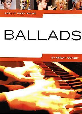 - Leicht Really Easy Piano 24 Great Songs Klavier Noten : BALLADS