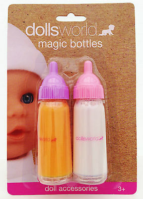 Dolls World Magic Disappearing Milk and Juice Bottle for New Born Baby Doll New