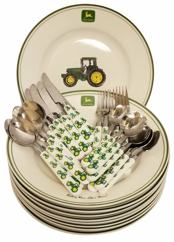 John Deere Plate and Flatware Set by Gibson