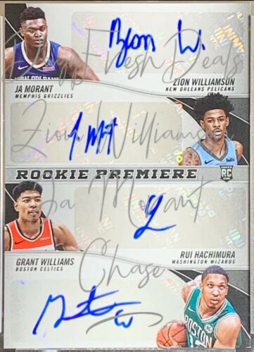 2019 JA MORANT ZION WILLIAMSON 20+ CARD PACK LOT AUTO *BUYBACK PACK PLEASE READ*