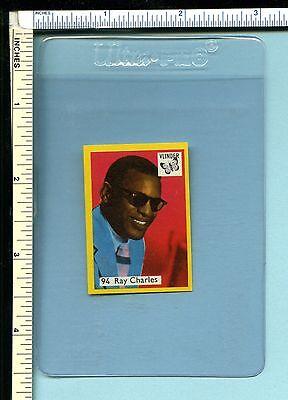 RAY CHARLES Vintage Early 70s Dutch Vlinder Matchbook Label #94; Pop/Rock Soul