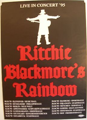 RAINBOW CONCERT TOUR POSTER 1995 STRANGER IN US ALL RITCHIE BLACKMORE