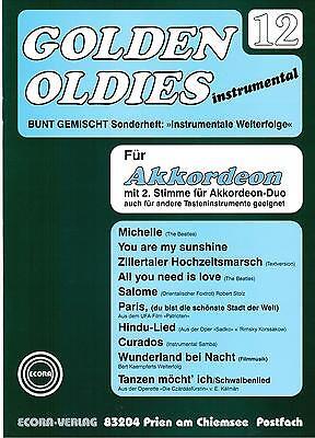 Akkordeon Noten : Golden Oldies 12 mittel  m. 2. Stimme (ad. lib.)