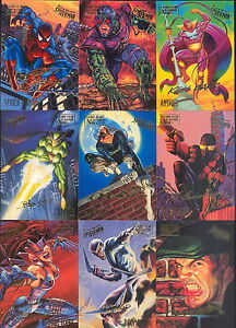 SPIDER-MAN 1995 FLEER ULTRA COMPLETE PARALLEL SIGNATURE CARD SET OF 150 MARVEL