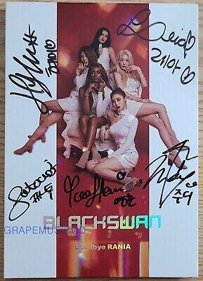 BLACKSWAN GOODBYE RANIA ALBUM K-POP REAL SIGNED AUTOGRAPHED CD
