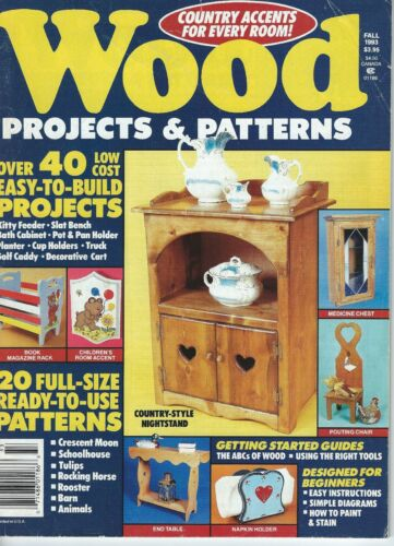 1993 Wood Projects and Pattern Magazine - 40 projects