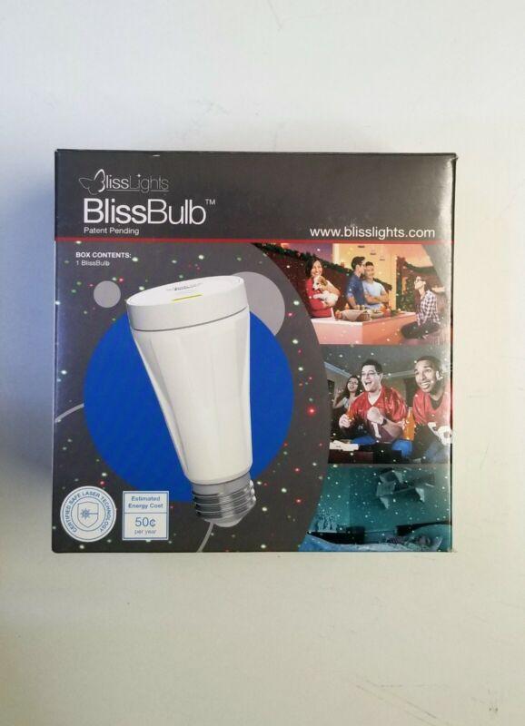 BlissLights BlissBulb Laser Bulb - Decorative Holiday Light Indoor/Outdoor Blue