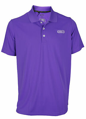 - Adidas Mens ClimaLite Pique Blocked Polo Shirts, Purple