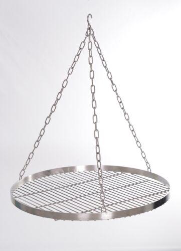 Schwenkgrill Edelstahl Grill 60, 70, 80, 90cm mit Kette, Grillrost, Feuerschale