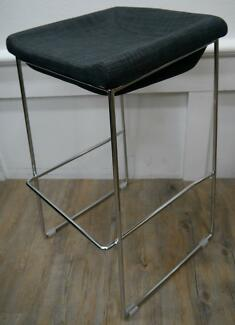 New Pippa Kitchen Counter Dining Stools Grey Linen Seat