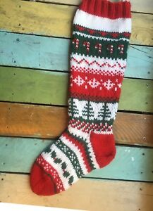 Personalized Hand Knit Stocking
