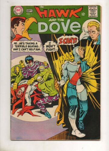 Hawk and the Dove #1 STEVE DITKO ART 1968! Fine+ 6.5 Nice Book! Hank Henshaw The