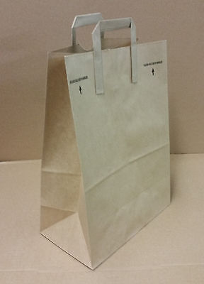 12x7x17 Approximate Kraft Brown Paper Grocery Shopping Bags With Paper Handles