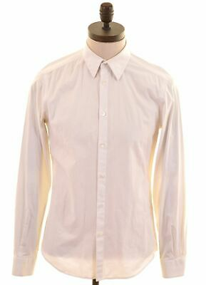 VERSACE Mens Shirt Size 40 15 1/2 Medium White Cotton  EO09